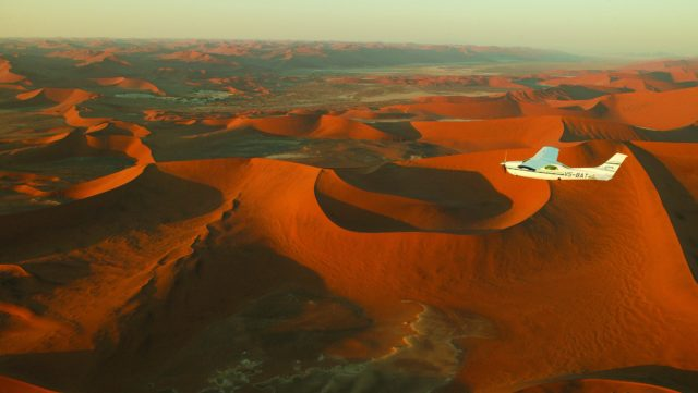 Rondvlucht over Sossusvlei - Namibie