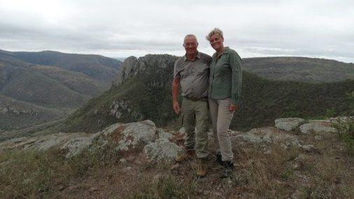 Jean Bruijnzeels en Tiny Huijnen op reis door Zuid-Afrika 2017