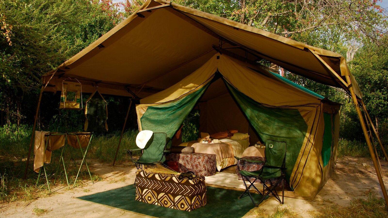 deluxe tent mobile safari accommodatie Botswana