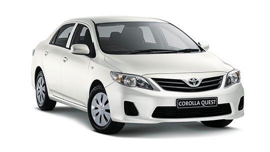 Middenklasse huurauto Toyota Corolla Quest Rondreis Op Maat Specialist