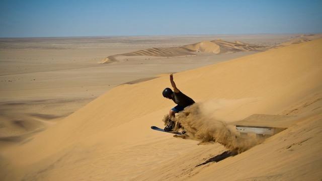 Sandboarding Namibie Swakopmund Rondreis Op Maat Specialist
